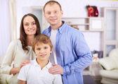 Boy with parents — ストック写真