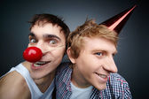 Guys making faces — Stock Photo