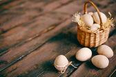 Houten eieren — Stockfoto