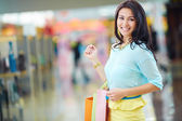Female in the mall — Stock Photo