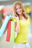 Beautiful shopper — Stock Photo