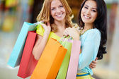 Joyful shoppers — Stock Photo