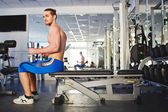 Man training in  the gym — Stock Photo