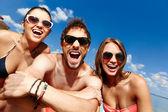Friends in sunglasses — Stock Photo