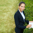 Businesswoman with laptop — Stock Photo #47629783