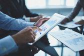 Analyzing electronic document — Stock Photo