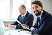 Businessmen at work — Stock Photo
