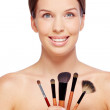 Woman with beauty tools — Stock Photo #47771579