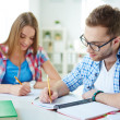 Students writing test — Stock Photo #47781371