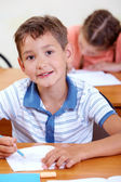 Smart boy at school — Stock Photo