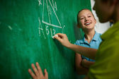 Successful schoolgirl — Stock Photo