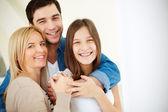 Rodiče a dcera — Stock fotografie