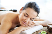 Woman ready for massage — Stock Photo
