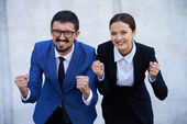 Ecstatic colleagues — Stockfoto