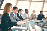 Business people at seminar — Foto Stock