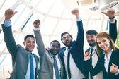 восторженный деловых партнеров — Стоковое фото