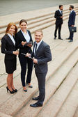 Business team outside — Stock Photo