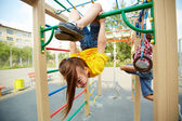 Girl on playground — Stockfoto