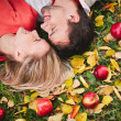 Couple with ripe apples — Stock Photo #49264199