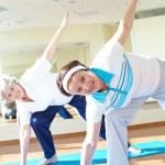 Sporty women in sport gym — Stock Photo