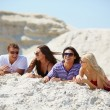 Friends resting on the sand — Stock Photo #49267393