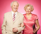 Charming retired couple — Foto Stock