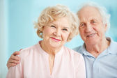 Smiling seniors — Stock Photo