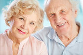 Charming elder couple — Stock Photo