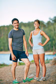 Young sporty couple — Stock Photo