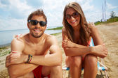 Couple on the beach — Fotografia Stock