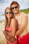 Dates on the beach — Stockfoto
