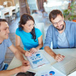 Business partners discussing computer project — Stock Photo #51556939
