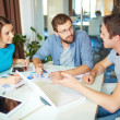 Business partners at meeting in office — Stock Photo #51556969