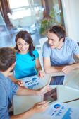 Business partners working at meeting — Stock Photo