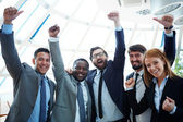 Group of ecstatic business partners — Stock Photo