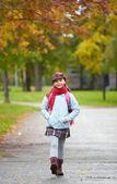 Cheerful schoolchild — Stock Photo