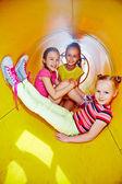 Girls enjoying on playground — Foto de Stock