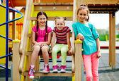 Girls spending time on playground — Stock Photo