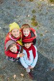 Happy schoolkids — Stock Photo