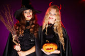 Happy witches — Stock Photo