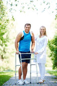 Nurse and male patient — Stock Photo