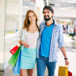 Young couple in the mall — Stock Photo #51633485