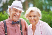 Smart seniors — Foto de Stock