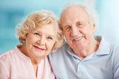 Candid senior couple — Stock Photo