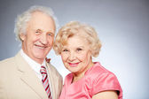 Charming retired couple — Stock Photo