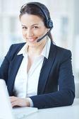 Customer support representative — Stock Photo