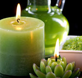 Close up view of aromatherapy still-life — Stock Photo