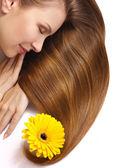 Beautiful woman's hair — Stock Photo