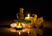 Spa still-life with candles — Stock Photo