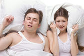 Sleep of husband and wife — Foto de Stock